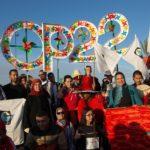 La marcia per il clima in occasione della conferenza COP22 a Marrakech, in Marocco. Credits to: Jeremy Sutton-Hibbert/Greenpeace