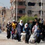 Più di 300 persone sono state evacuate dal sobborgo damasceno di Moadamiyeh, settembre 2016. Credits to: Reuters.