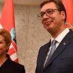 Il presidente serbo Aleksandar Vucic incontra la presidente croata Kolinda Grabar-Kitarovic, 12/02/2018. Credits to: inavukic.com.