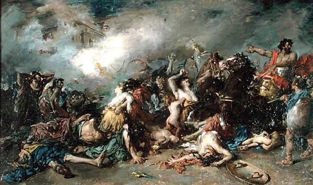 Gli ultimi giorni di Sagunto (Francisco Domingo Marqués, 1869)