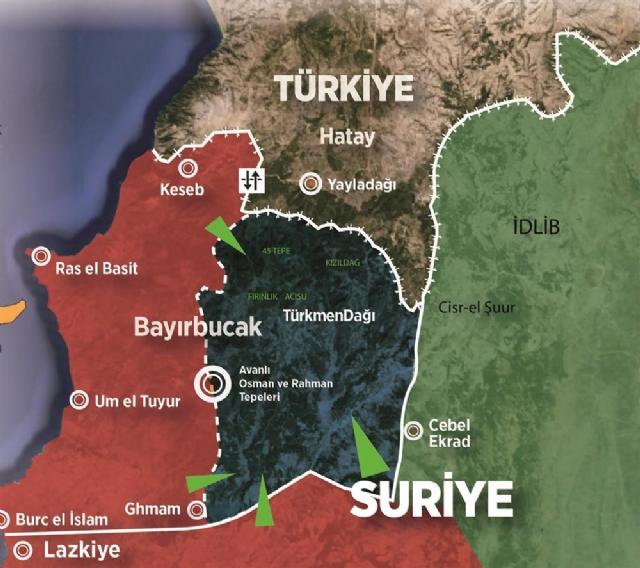 Regione di Bayirbucak, in Siria, abitata da siriani turcomanni e luogo dello schianto del jet russo / credits: haber24.com