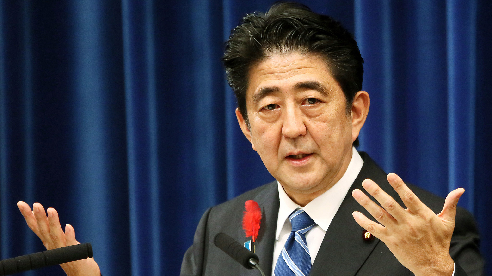 Il premier giapponese Shinzo Abe / source Financial Times