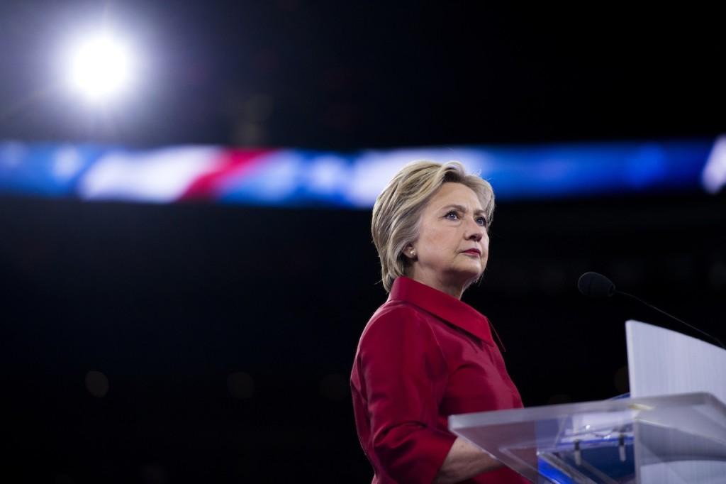 Hilary Clinton durante un evento della campagna elettorale per le primarie Usa / credits: Epa - Shawn Thew