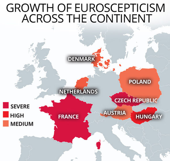 L'ondata di euroscetticismo in Europa - credits: express.co.uk