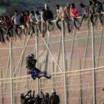 Spagna, confine Ceuta Melilla Marocco