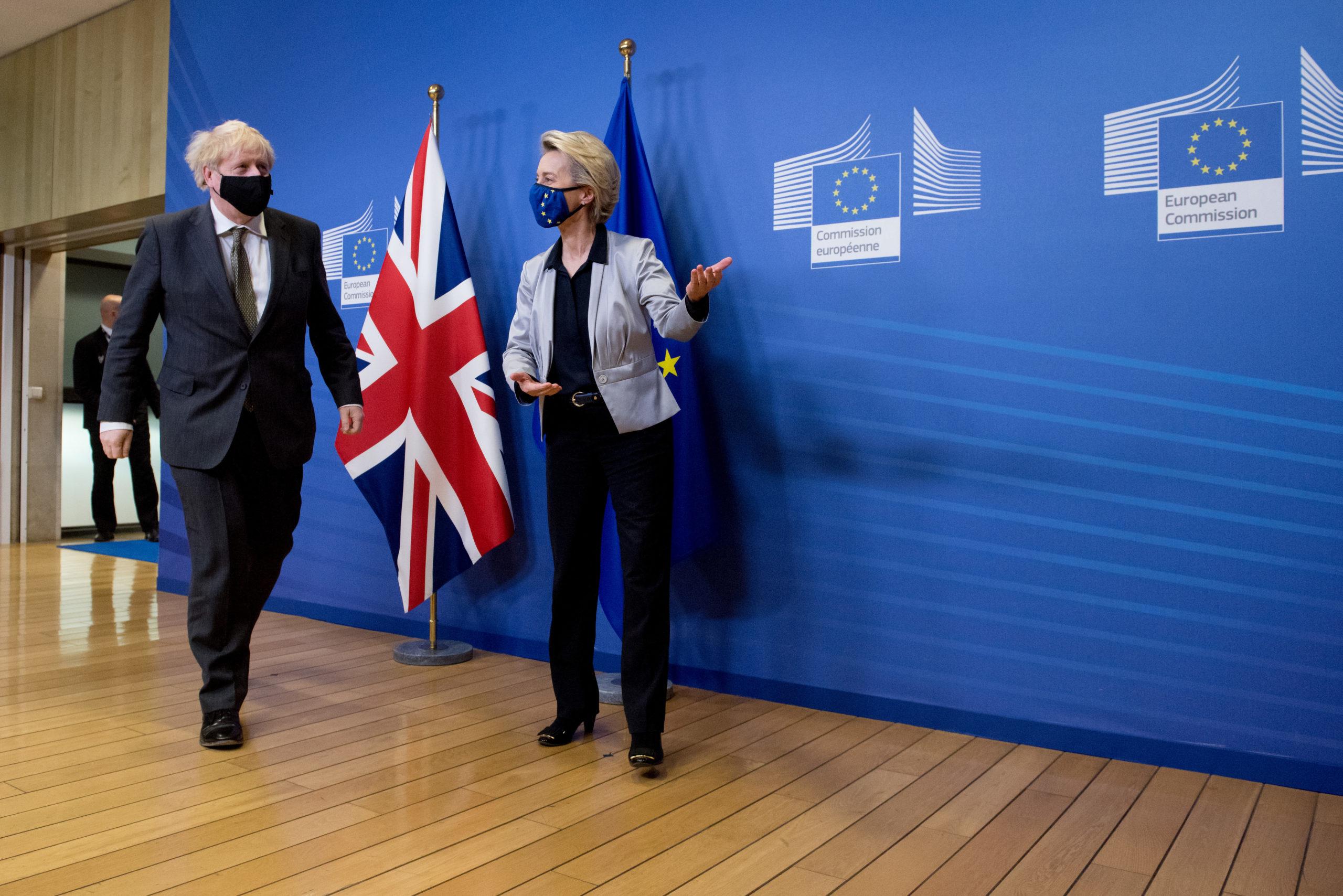 Il premier Boris Johnson e Usula von der Leyen / European Union, 2020 Source: EC - Audiovisual Service